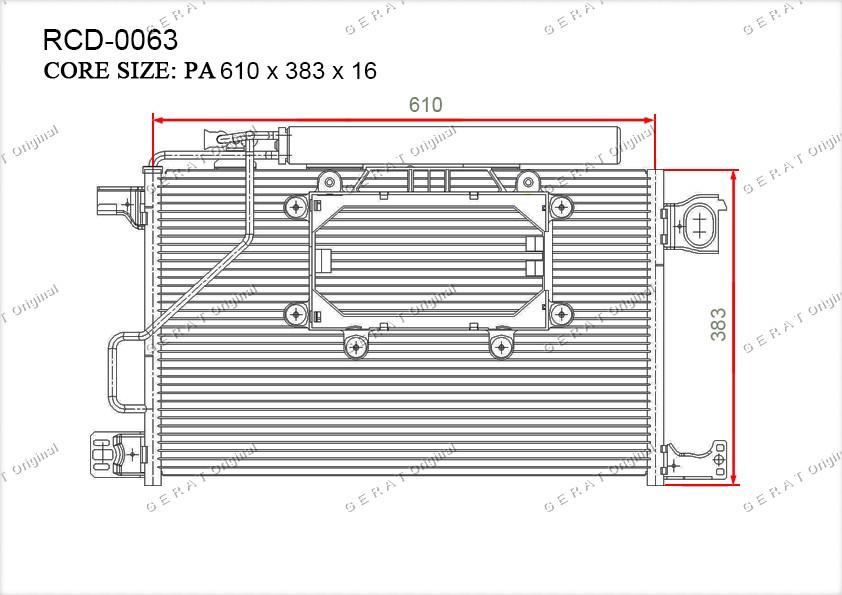 Радиатор кондиционера Gerat OEM2035002154