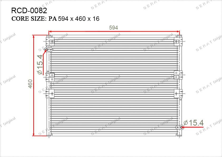 Радиатор кондиционера Gerat OEM8846060240