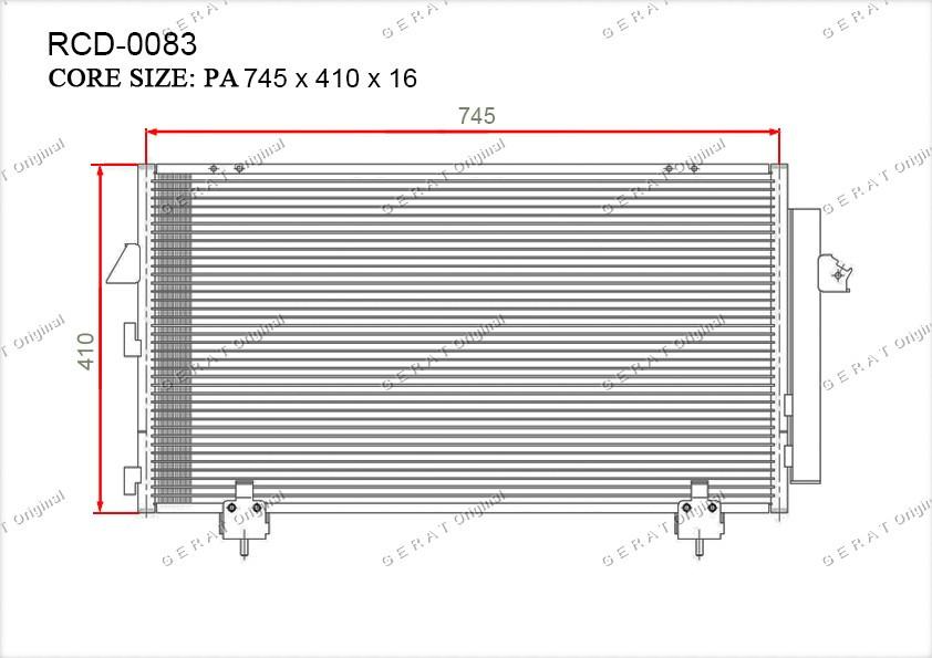 Радиатор кондиционера Gerat OEM8846042070