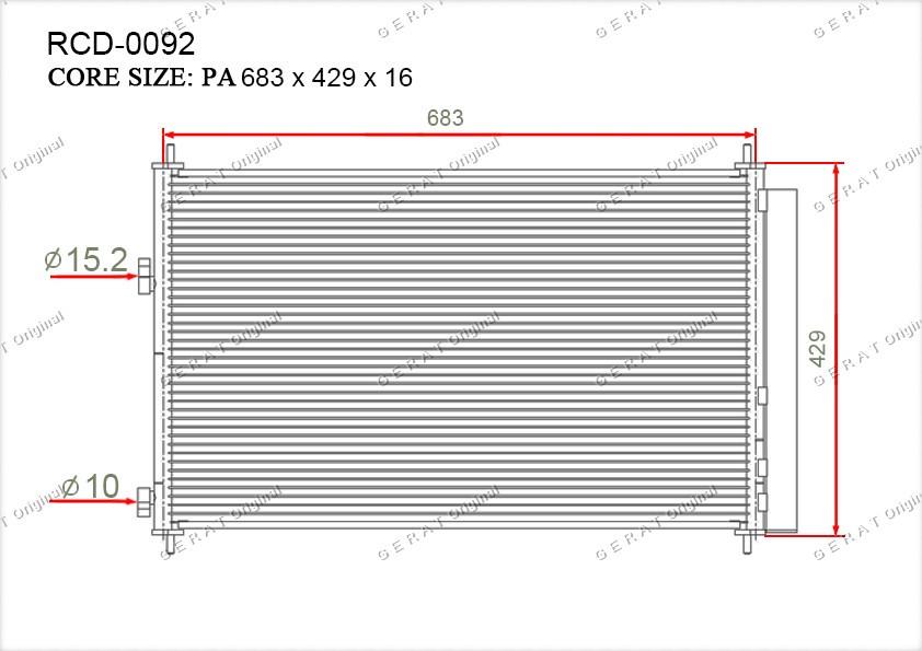 Радиатор кондиционера Gerat OEM8846042100