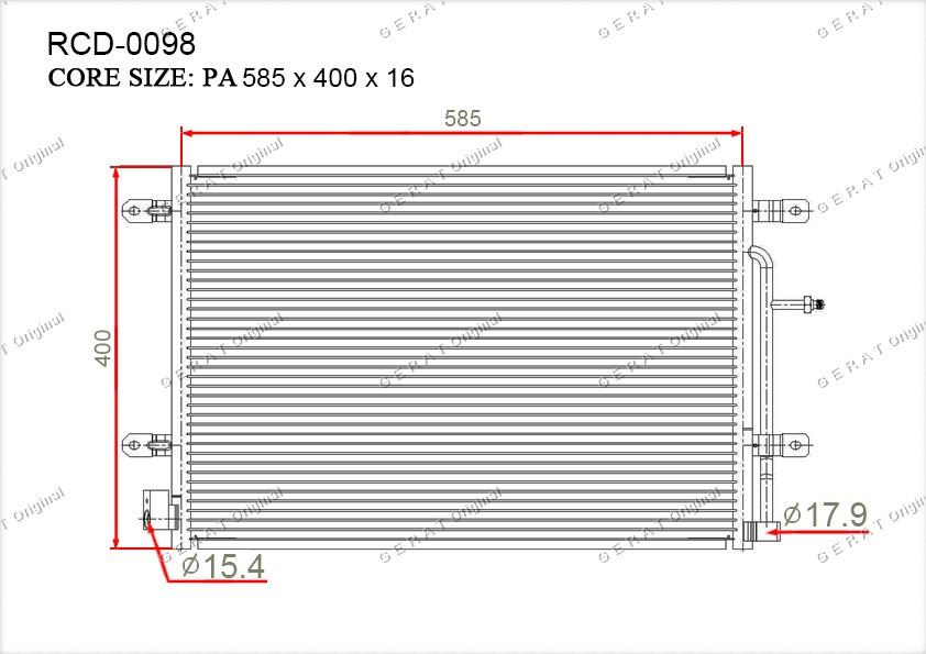 Радиатор кондиционера Gerat OEM8E0260403K