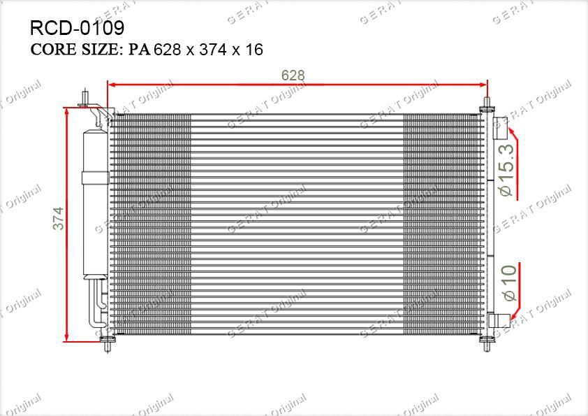 Радиатор кондиционера Gerat OEM92100EL00A