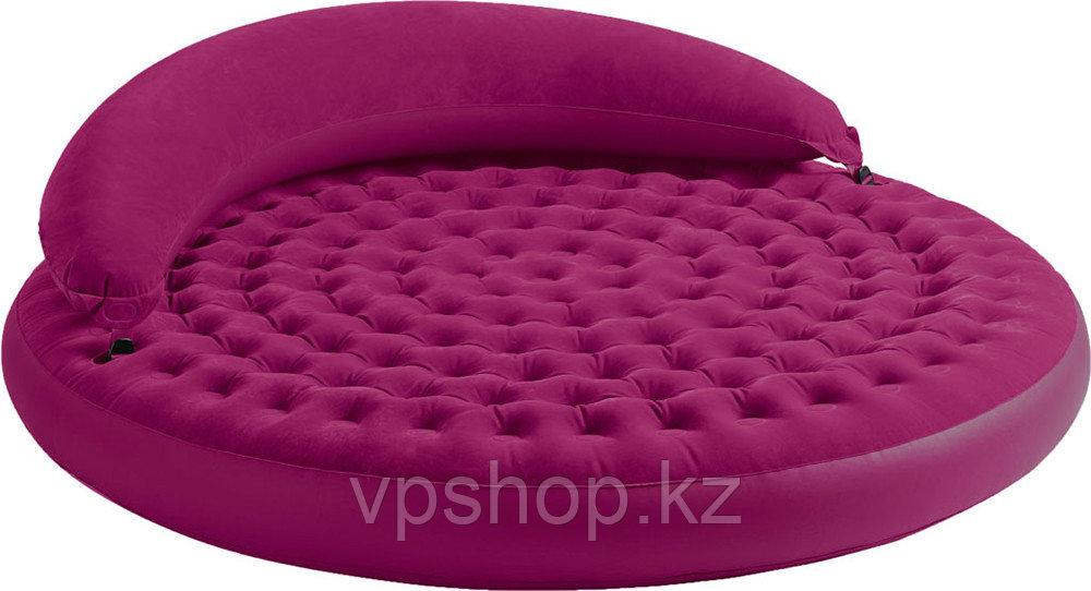 Круглая двуспальная надувная кровать Intex 68881 с доставкой