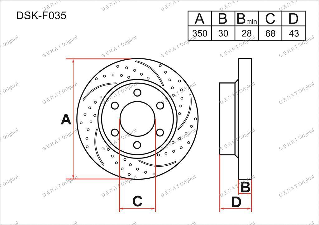 Диск тормозной передний комплект (2шт.) 402069FF0C