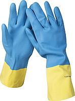 Перчатки латексные с неопреновым покрытием Stayer  (M)