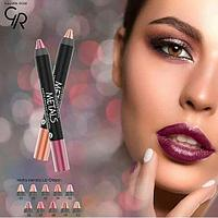 Помада-карандаш «GOLDEN ROSE» METALS Matte Metallic Lip Crayon     , фото 1