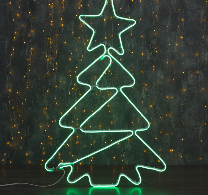 "Фигура неоновая ""Елочка"" 77х47 см, 480 LED, 220V, ЗЕЛЕНЫЙ"