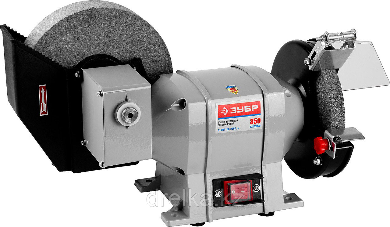 Станок точильный ЗУБР ЗТШМ-150/200У_z01, диски 150 х 20 х 32 мм /200 х 40 х 32 мм, 134 об/мин, 350 Вт.