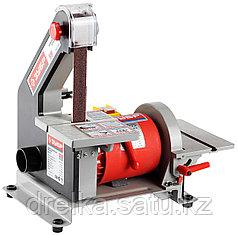 Станок шлифовальный тарельчато-ленточный ЗУБР ЗШС-330, 762 x 25 мм, диск 125 мм, 2950 об/мин, 330 Вт.