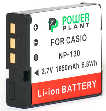 Аккумулятор PowerPlant Casio NP-130 1850mAh