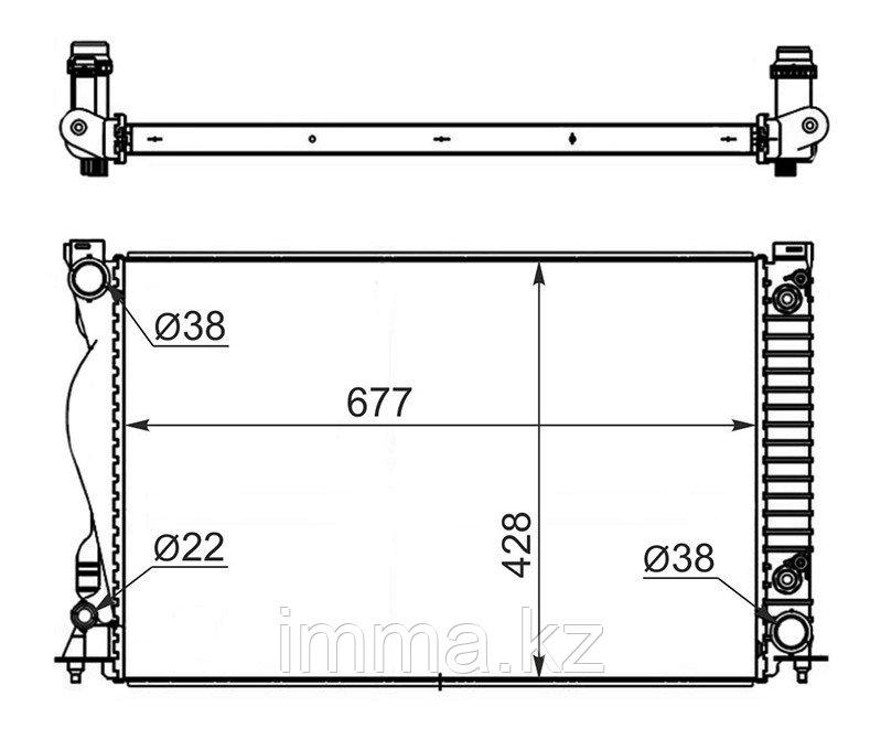 Радиатор Ауди A6/S6 2.4/2.8/3.0/3.0T/3.2 04-/ALLROAD 3.0/3.2 06-