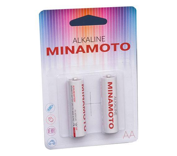 Алкалиновая батарейка Minomoto LR6 2 card