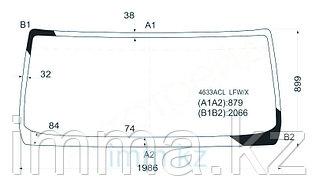 Стекло лобовое в клей DAF LF45-55 2001/RENAULT MIDLUM 99-/VOLVO FL 2002-/MACK FREEDOM 02-