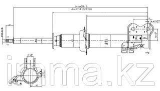 Стойка передняя Ниссан MARCH/MICRA/CUBE 92-02 LH