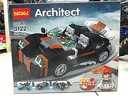 Конструктор Decool Architect 3122 256 pcs 36 в 1