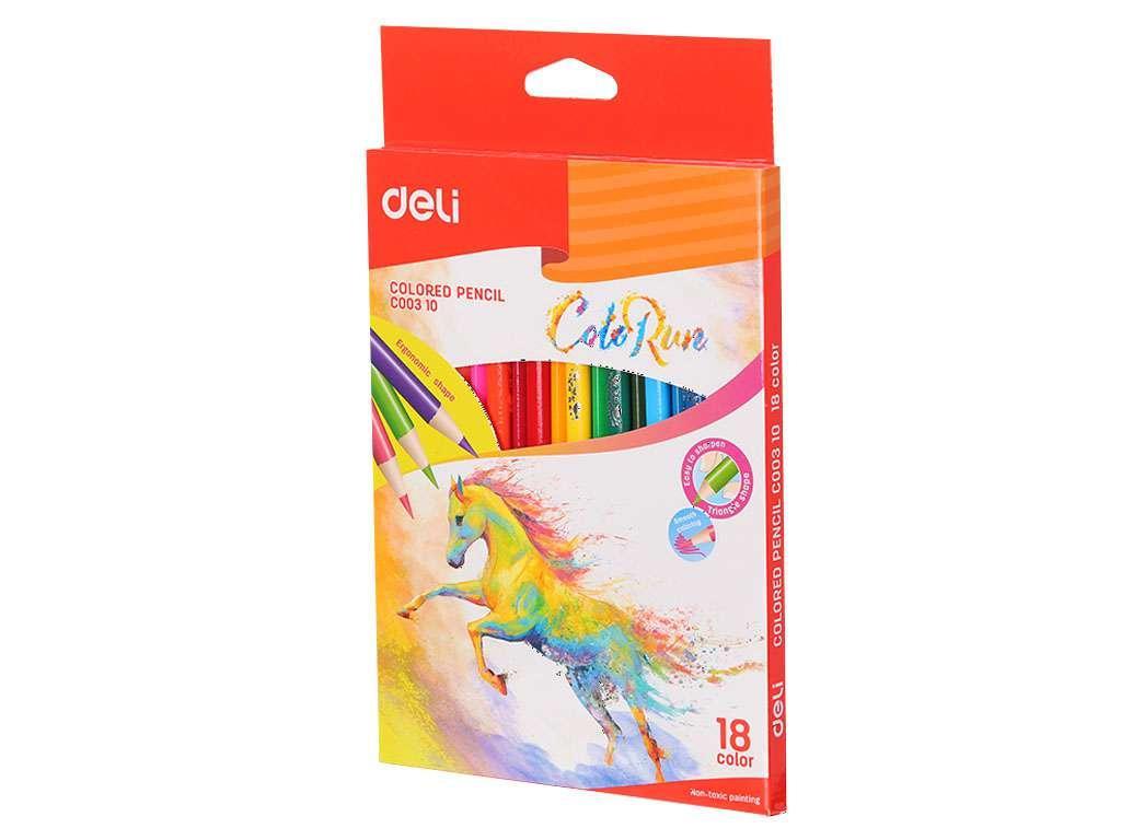 """Карандаши цветные Deli """"ColoRun"""", 18 цветов, картон"""