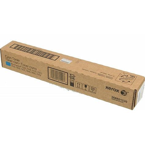 Тонер-картридж оригинальный Xerox 006R01520 для WC 7545/7830/7835/7845/7855/7500ser/7530, голубой, фото 2
