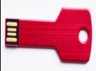USB Накопитель Металлический в Форме Ключика 8GB, Красный