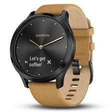 Смарт-часы GARMIN vivomove HR,Premium,Onyx Black with Tan Suede, 010-01850-00