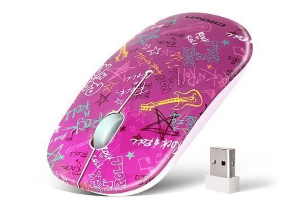 Беспроводная мышь CROWN MICRO  924W Pink