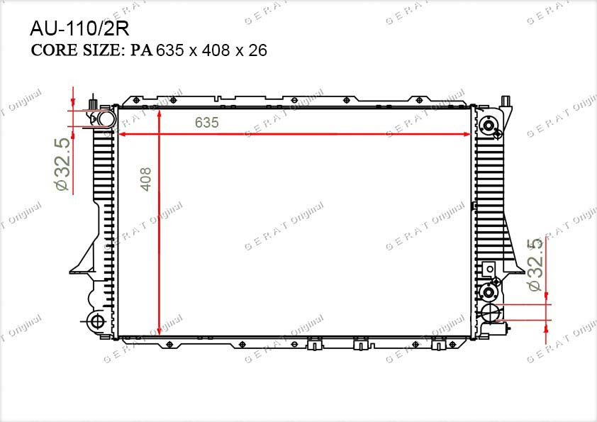 Радиатор основной TCR-0002/3R