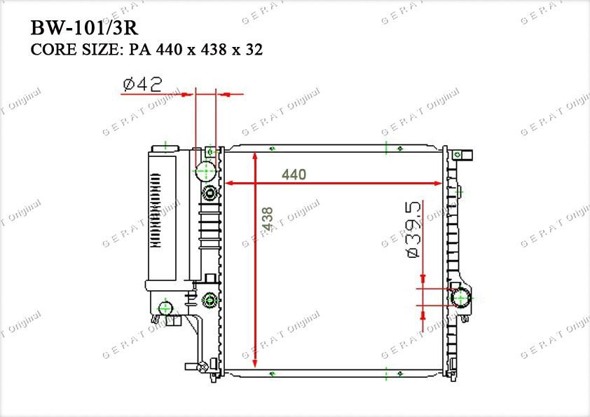 Радиатор основной 17111719136