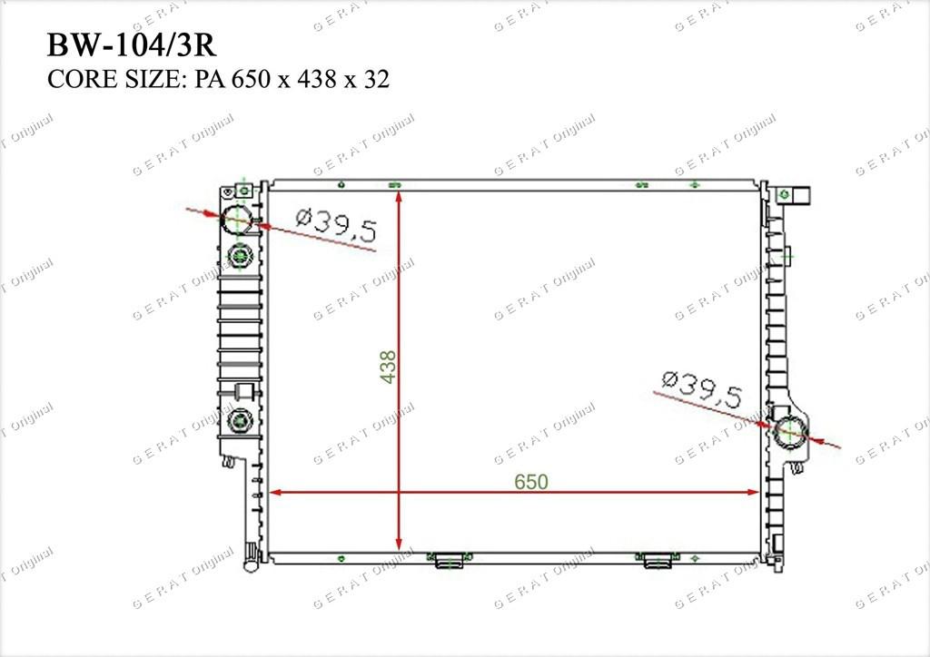 Радиатор основной 17111468081
