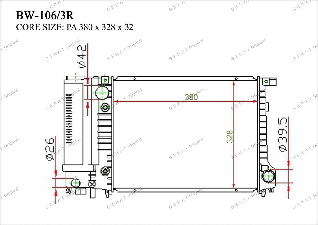 Радиатор основной 17111719301