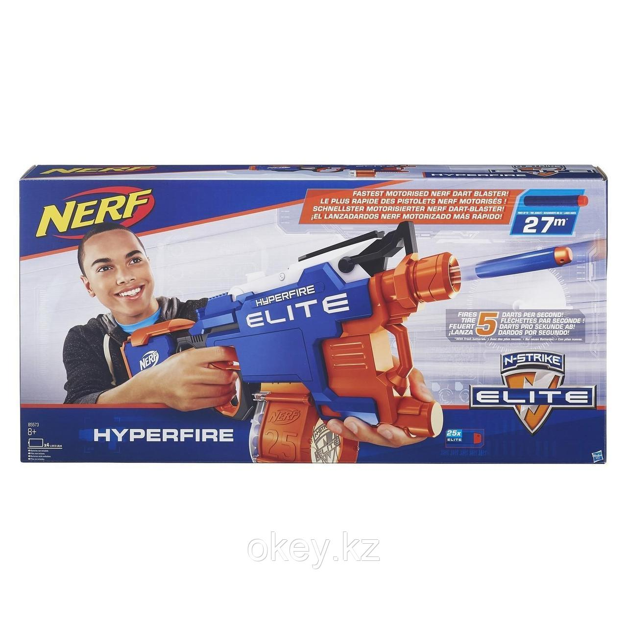 Nerf: Бластер Элит Хайперфайр — N-Strike Elite HyperFire B5573EU4