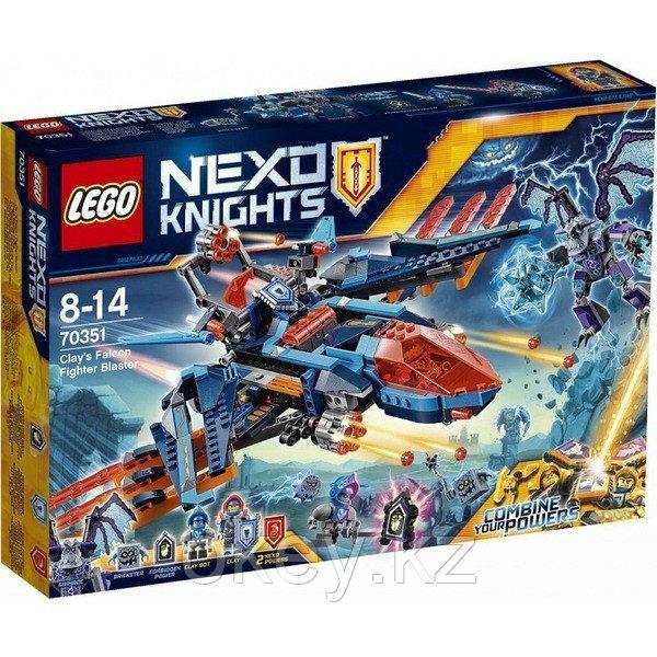 LEGO Nexo Knights: Самолёт-истребитель Сокол Клэя 70351
