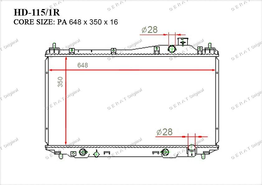 Радиатор основной 19010PLCJ01
