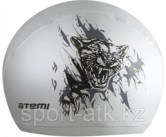 Шапочка для плавания тканевая PU  (с ПУ покрытием) тигр ATEMI