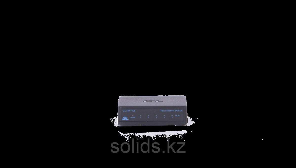 Коммутатор GIGALINK неуправляемый 5 портов 10/100/1000 мб/с, пластиковый корпус, внешний блок питани, шт