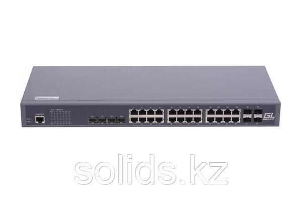 """Управляемый коммутатор L2 GIGALINK 24 BASE-T 1000Mb/s, 4 Combo TX/SFP 1000Mb/s, 4 10G SFP+, 1U 19"""", шт"""