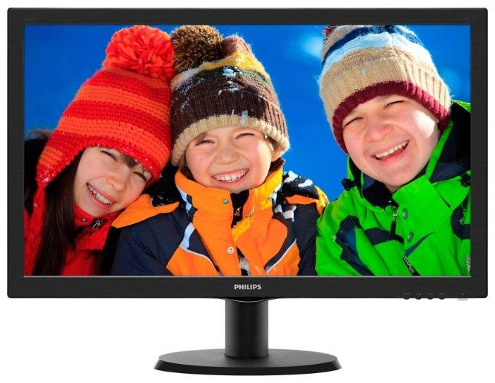 "Монитор 23,6"" PHILIPS 243V5QHSBA/01 MVA W-LED 1920x1080 250кдм 8мс 3000:1 10 млн:1"