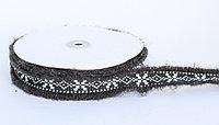 Декоративная лента для одежды с бахромой, черная