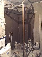 Паровая комната (хамам) в квартире. Размер = 1,0 х 1,5 х 2,3 м. Адрес: г. Алматы, ул. Бухар Жырау 22. 26