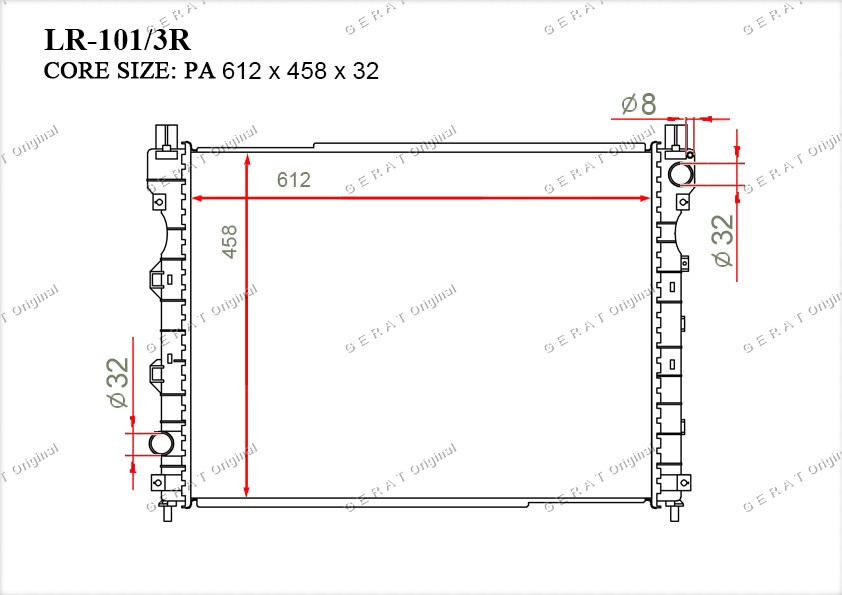 Радиатор основной PCC000320