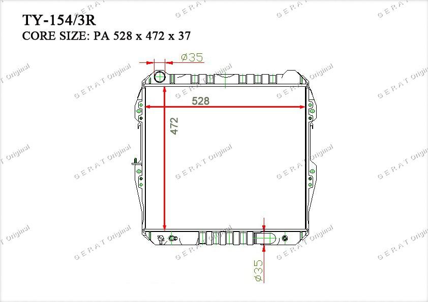 Радиатор основной 164005B041
