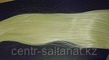 Хвост накладка на ленте из искусственных волос блонд
