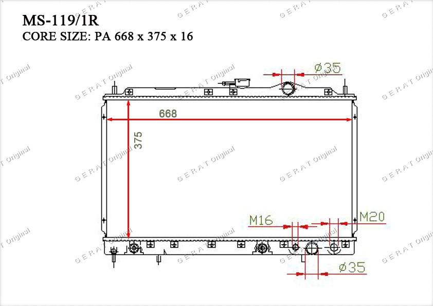 Радиатор основной MB356528