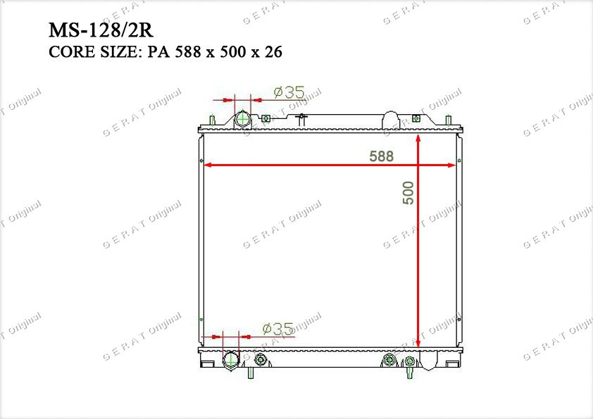 Радиатор основной MR126104