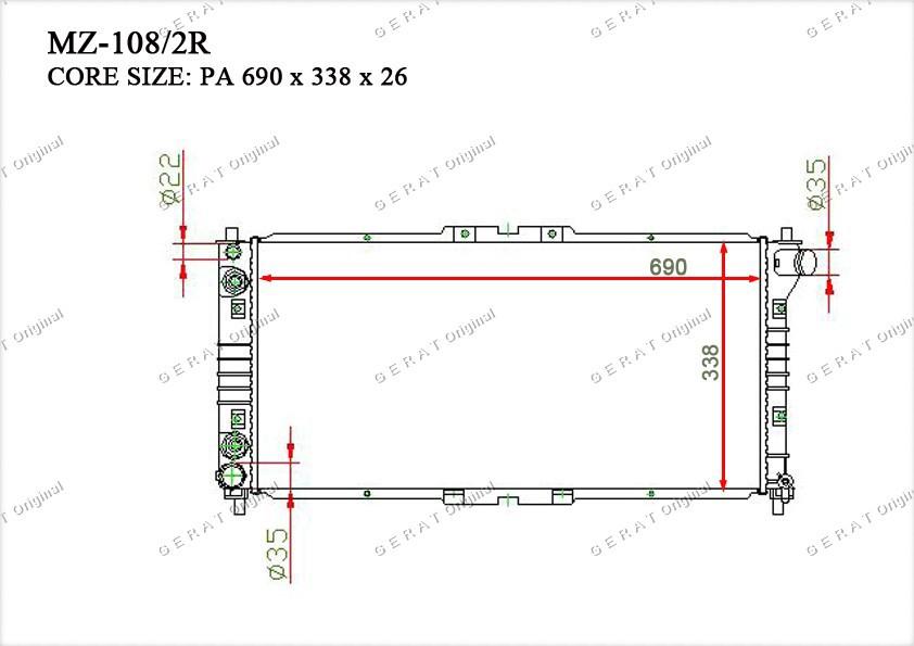 Радиатор основной KF1215200B