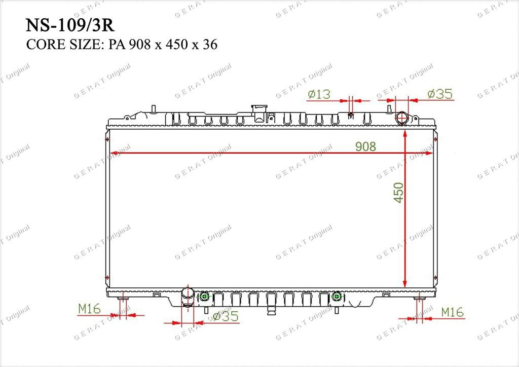 Радиатор основной 21410VB200