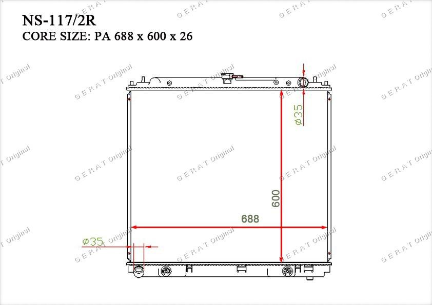 Радиатор основной 21460EA215