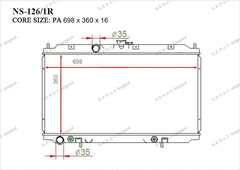 Радиатор основной 21460AV600