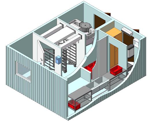 Модульный цех контейнерного типа для сушки и копчения рыбы (загрузка до 300 кг.), фото 2