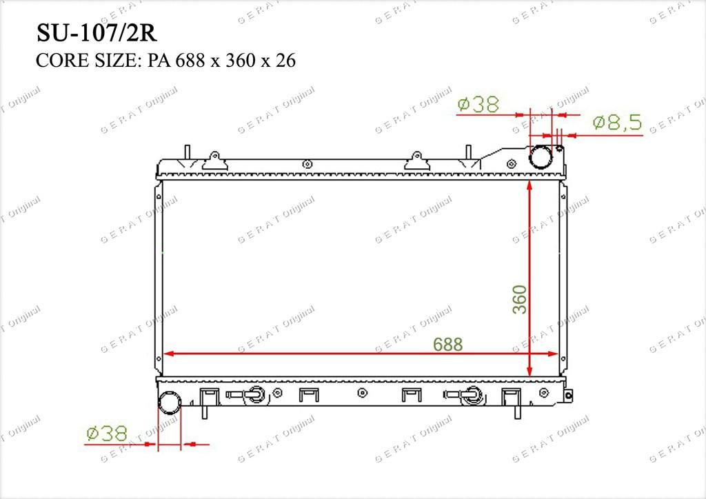 Радиатор основной 45111SA151