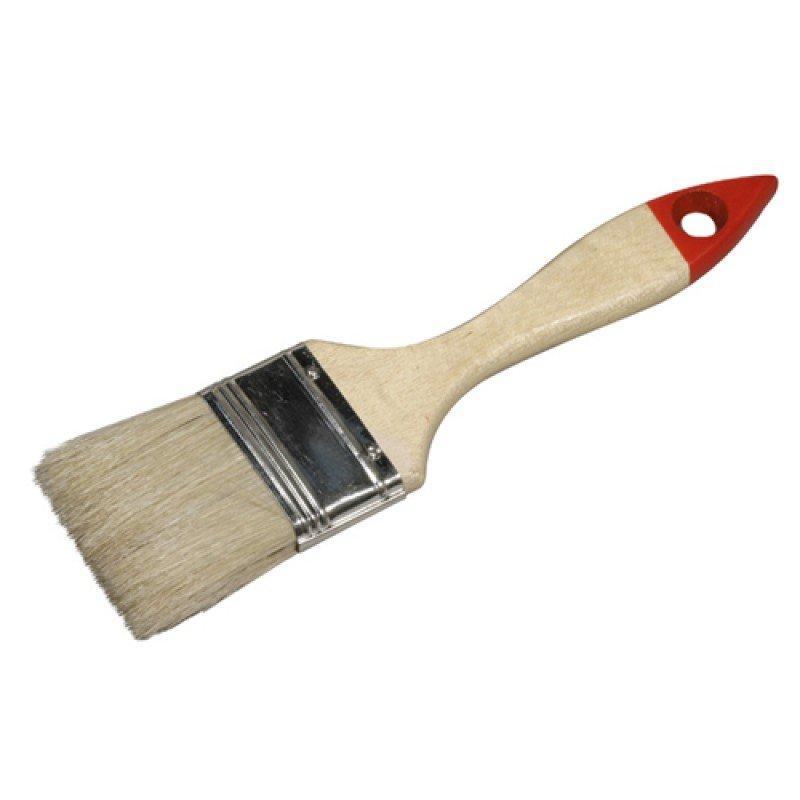 Кисть плоская Stayer Universal-Standart светлая натуральная щетина деревянная ручка 50 мм