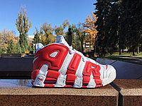 Кроссовки Nike Air More Uptempo (White&Red)